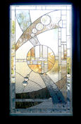 art deco stained glass panel 04