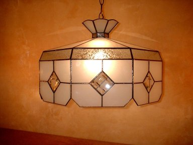 SGBL-100 Bevelled Stained Glass Pendants