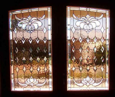 Bevelled Stained Glass Panel Version 6