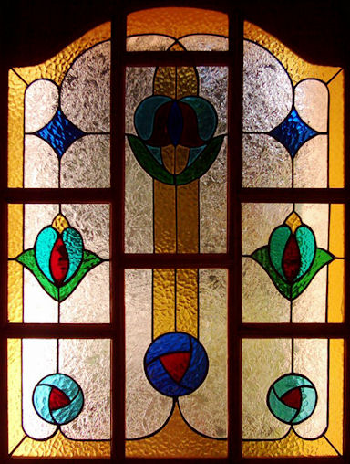Contemporary Stained Glass Panels Version 9