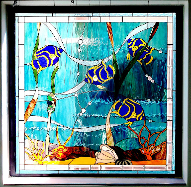 Fauna Stained Glass Panels Version 6