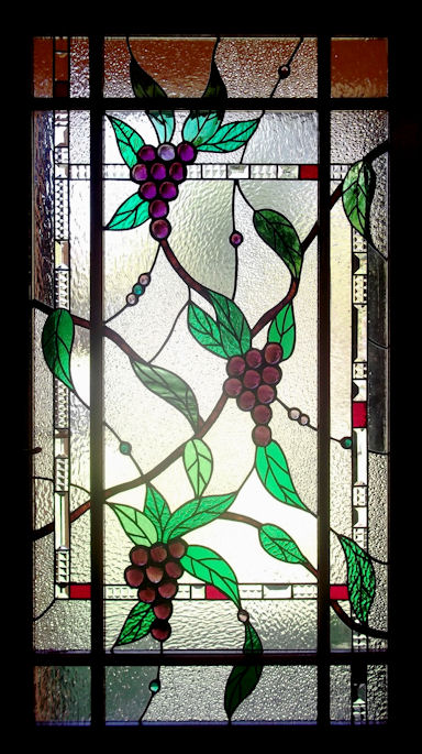 Floral Grapes Stained Glass Panels Version 1