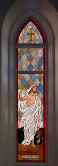 jesus stained glass church panel