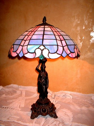 SGBARB-100 Stained Glass Table Lamp